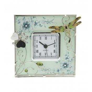 Часы квадратные золотая стрекоза  jardin dete hs-24101g