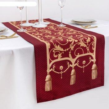Дорожка на стол королевский узор 40*146 см, 100% хл, саржа 190гр/м2