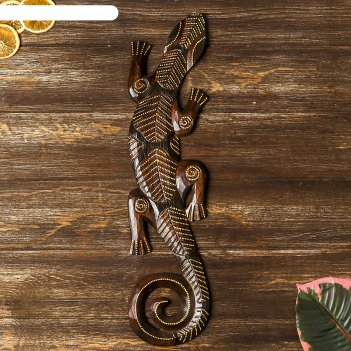 Панно геккон с точками, 50 см