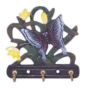 Вешалка крючок для одежды настенная бабочка