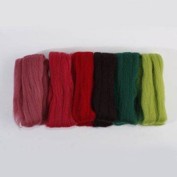 Набор шерсти для валяния нарядный георгин
