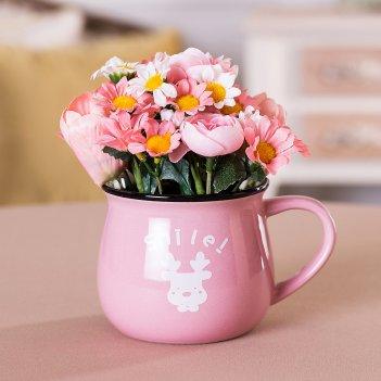 Изделие декоративное цветы 13*8 см. высота=15 см. (кор=48шт.)