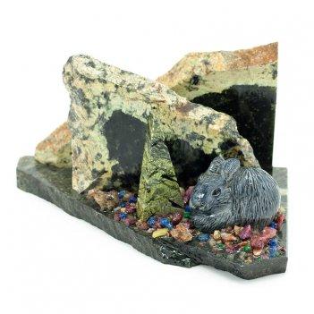 Мини-набор заяц камень змеевик