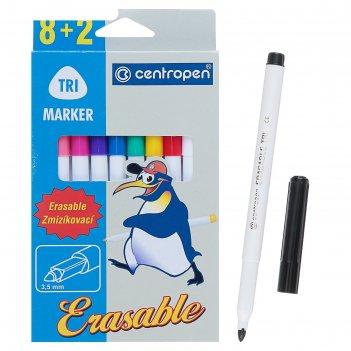 Фломастеры centropen erasable 2569/10, 1.8 мм, 10 цветов