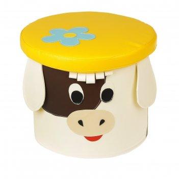 Мягкий пуфик коровка, микс