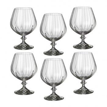 Набор бокалов для коньяка из 6 шт. анжела оптик 400 мл высота=14 см (кор=8