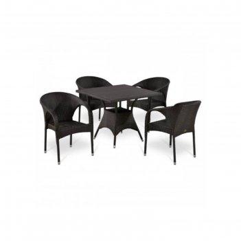 Комплект мебели из искусственного ротанга t190bd/y290b-w52 brown (4+1)