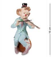 Cms-23/35 фигурка клоун со скрипкой (pavone)