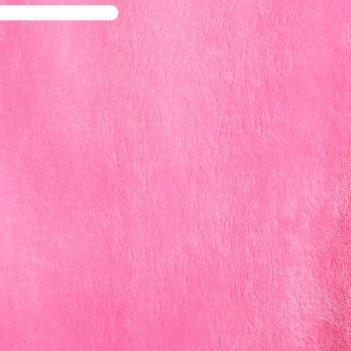 Плед этель корал 2 сп тёмно-розовый 180*200 см, 100% п/э, корал-флис, 180