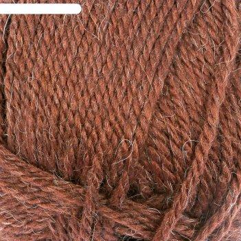 Пряжа дворянская 40% шерсть, 60% акрил 160м/100гр (063 шоколад)