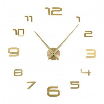 Часы-наклейка diy акстелл, золотые, 120 см