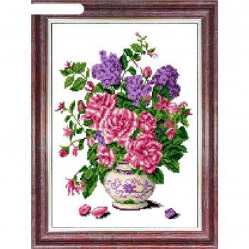 Канва с нанесенным рисунком для вышивки крестом «запах роз», 23х30 см