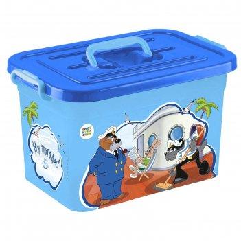 Ящик для хранения игрушек, 15 л, микс