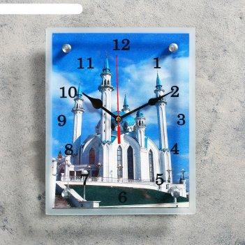 Часы настенные, серия: город, мечеть кул шариф, 20х25  см, микс