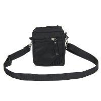 Сумка поясная кевин 1 отдел, 2 наружных кармана, длинный ремень, цвет черн
