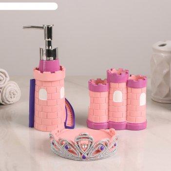 Набор аксессуаров для ванной комнаты, 3 предмета «рапунцель»