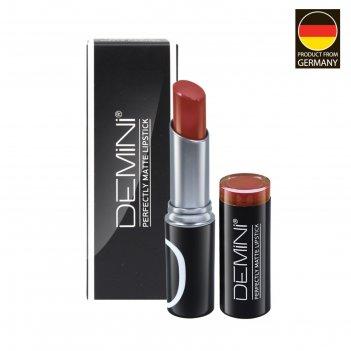 Помада для губ матовая demini perfectly matte lipstick, № 123 темный нюдов