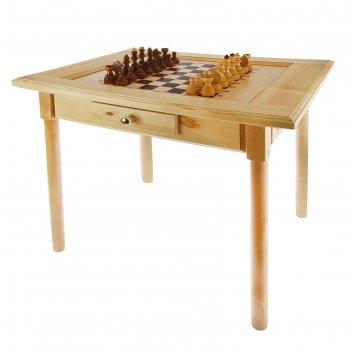 Стол шахматный 800*600*720 с фигурами и ящиком