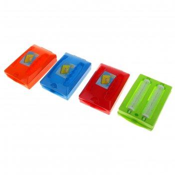 Щетка роликовая для чистки ковровых покрытий, 2 ролика, цвет микс
