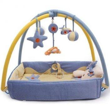Детский коврик котенок 05fs голубой