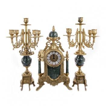 Набор часы (45х25х18 см) + 2 канделябра (50х20х18 см)