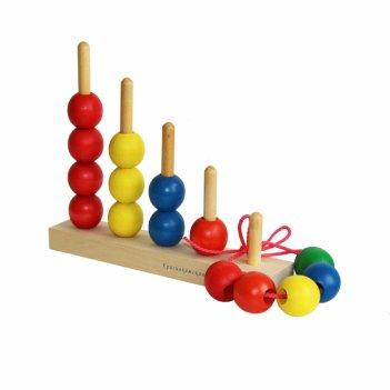 Пирамидка краснокамская игрушка пир-04 радуга