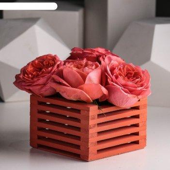 Ящик для цветов 13 х 13 х 9 см, осенний клён