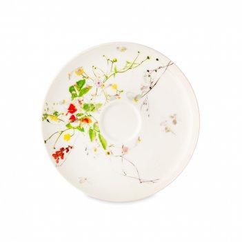 Блюдце к чашке для эспрессо «дикие цветы», диаметр: 11 см, материал: костя