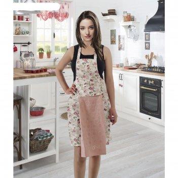 Фартук кухонный karna с салфеткой 30x50 см, 360 г/м2, цвет пудра