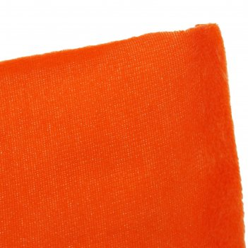 Ткань плюш 6-5 оранжевый № 18, ширина 150 см