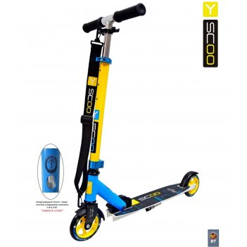 Y-scoo rt mini city 125 montreal yellow+light blue