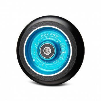 Колесо fox flat solid 100мм с рисунком синий/черный