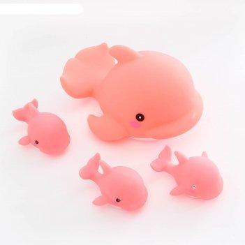 Набор игрушек для ванны «семейка дельфинов», 4 шт.