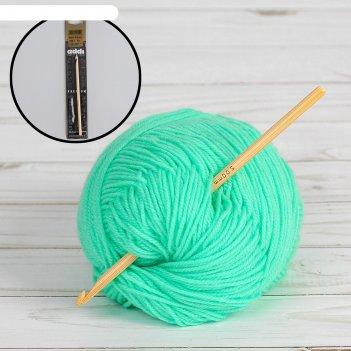 Крючок для вязания бамбуковый, d=5мм, 15см