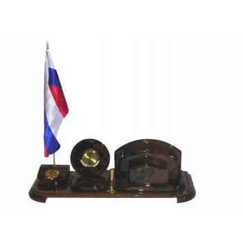 Настольный набор из камня (обсидиан)