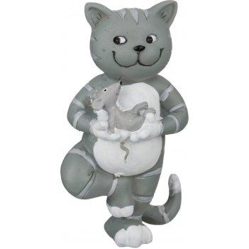 Фигурка йога-кот 4*6*10 см.