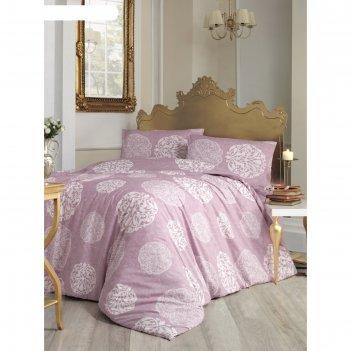 Кпб 1,5 сп bello, 160х240 см, 160х220 см, 50х70 см-1 шт., грязно-розовый