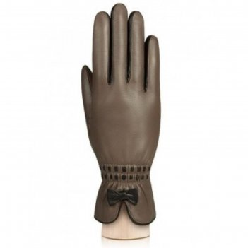 Перчатки женские п/ш lb-2965 цвет св.серо-корич./коричневый, размер  7