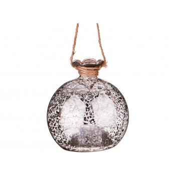 Декоративное изделие шар золотой блеск с подсветкой диаметр=8 см (мал-6 шт