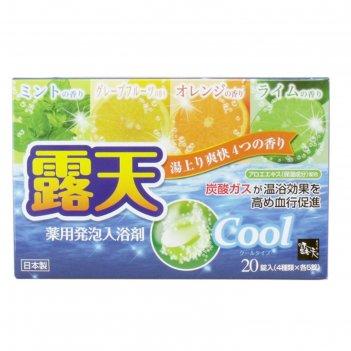 Соль для ванны на основе углекислого газа fuso kagaku cool с охлаждающим э