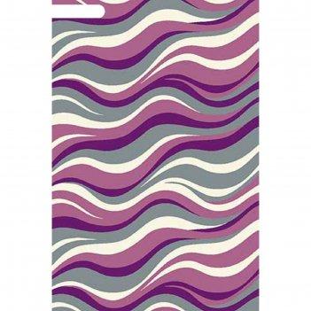 Ковёр фризе пп sunrise v817, 2,5*5,5 м, прямоугольный, gray-lilac