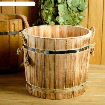 Запарник-ушат 15 литров, обожженная липа добрая баня 1280137