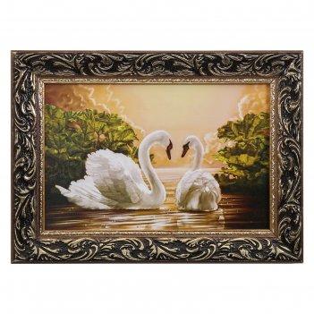 Картина пара лебедей 20*30 см
