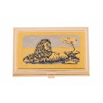 Визитница карманная лев   златоуст