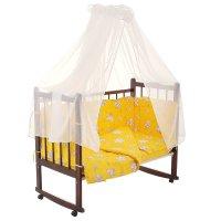 Комплект в кроватку 7 предмета за мёдом желтый 10701
