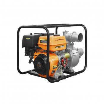 Мотопомпа бензиновая carver cgp 99100, 4т, 9.6 квт/13 л.с., d=100 мм, 7 м,
