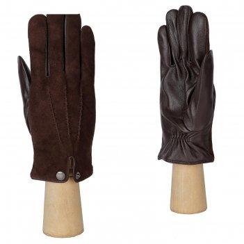 Перчатки мужские, натуральная кожа (размер 9.5) коричневый