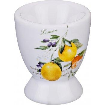 Подставка под яйцо итальянские лимоны  5,6*5,6*6...