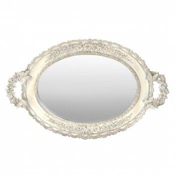Поднос с зеркалом, l44 w28 h5 см