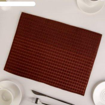 Салфетка для сушки посуды, 30х40 см, микрофибра, цвет серый